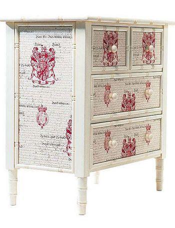Muebles con decoupage vintage buscar con google evim for Decoupage con servilletas en muebles