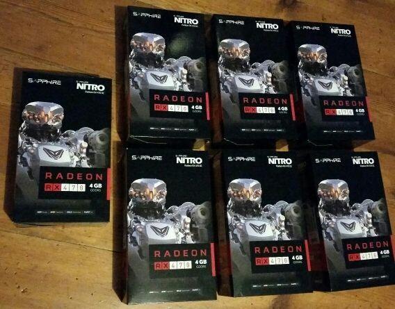 LOT of 7 !!NEW!! Sapphire Nitro Radeon RX 470 OC 4GB SHIPS