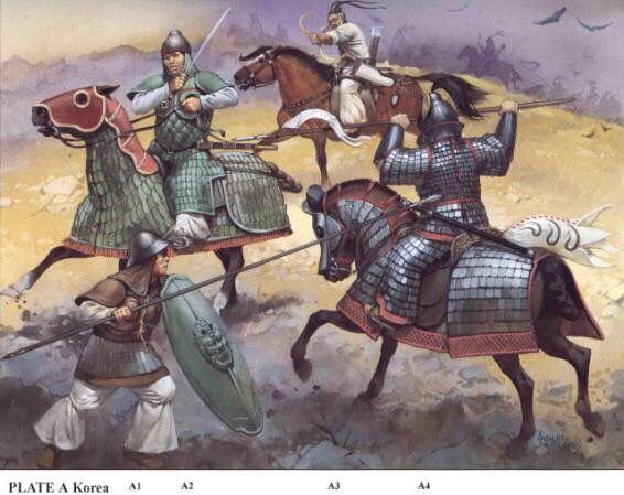 수나라-고구려 전쟁(1차~4차) (왼쪽이 수나라 오른쪽이 고구려)