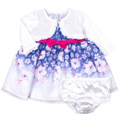 a3b53a15c170 Nannette Baby Size 6-9M 2-Piece Shrug Floral Dress And Panty Set In ...