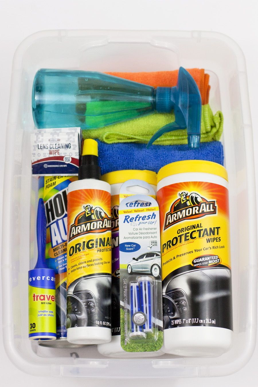 Car Cleaning Supplies >> Quick Organizing Tip Create A Car Cleaning Kit Car
