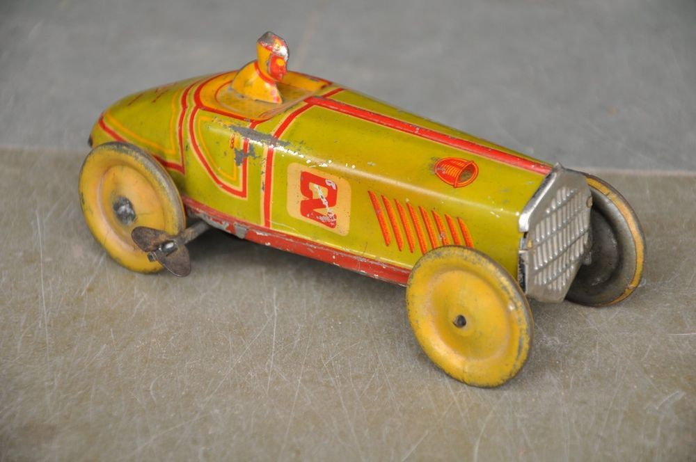 1930s Antique Toy Marx Wind Up Tin Litho Racing Car 5 Antique Toys Toy Car Cool Toys