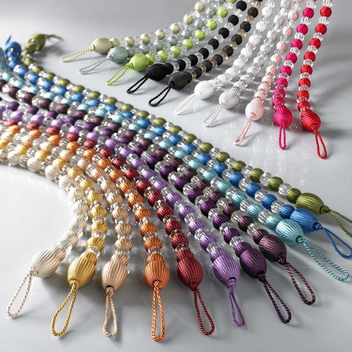 Earle Beaded Curtain Tie Back Curtain Tie Backs Rope Tie Backs