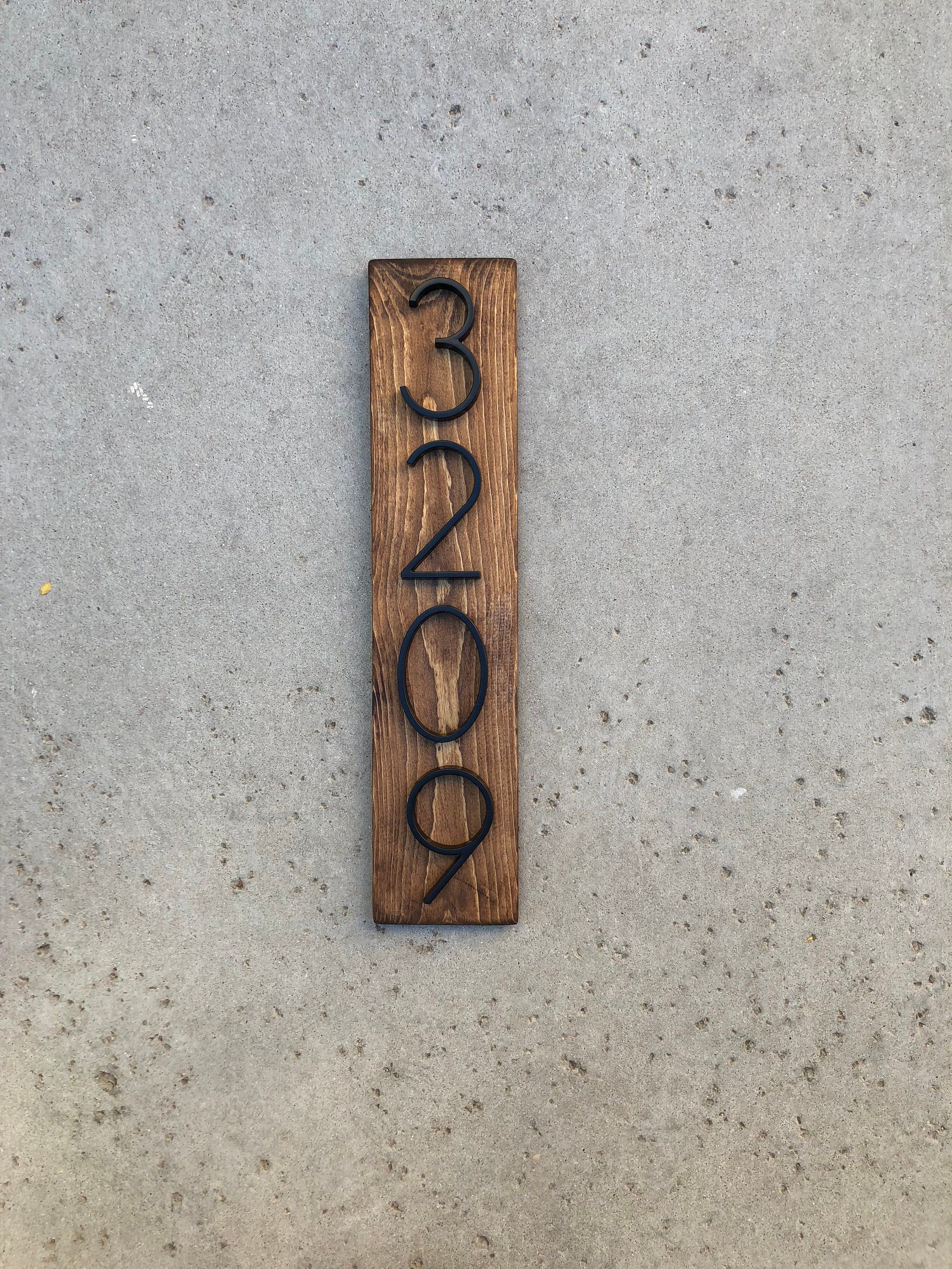 House Number Plaque Modern