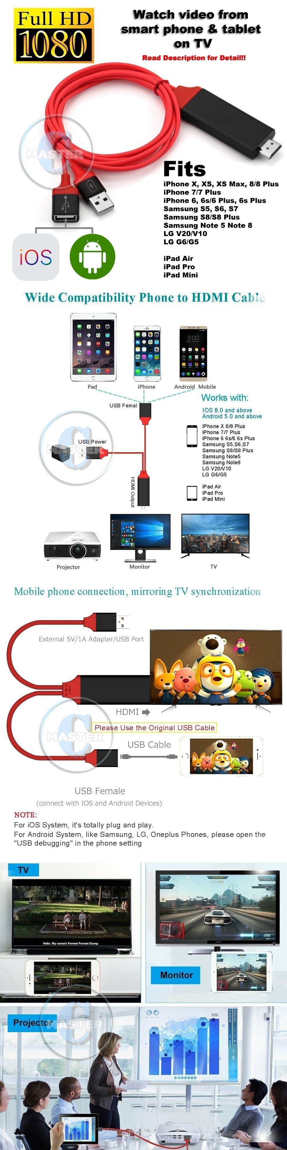 A V Cables and Adapters 176972: Hdmi Hd Tv Clone Phone