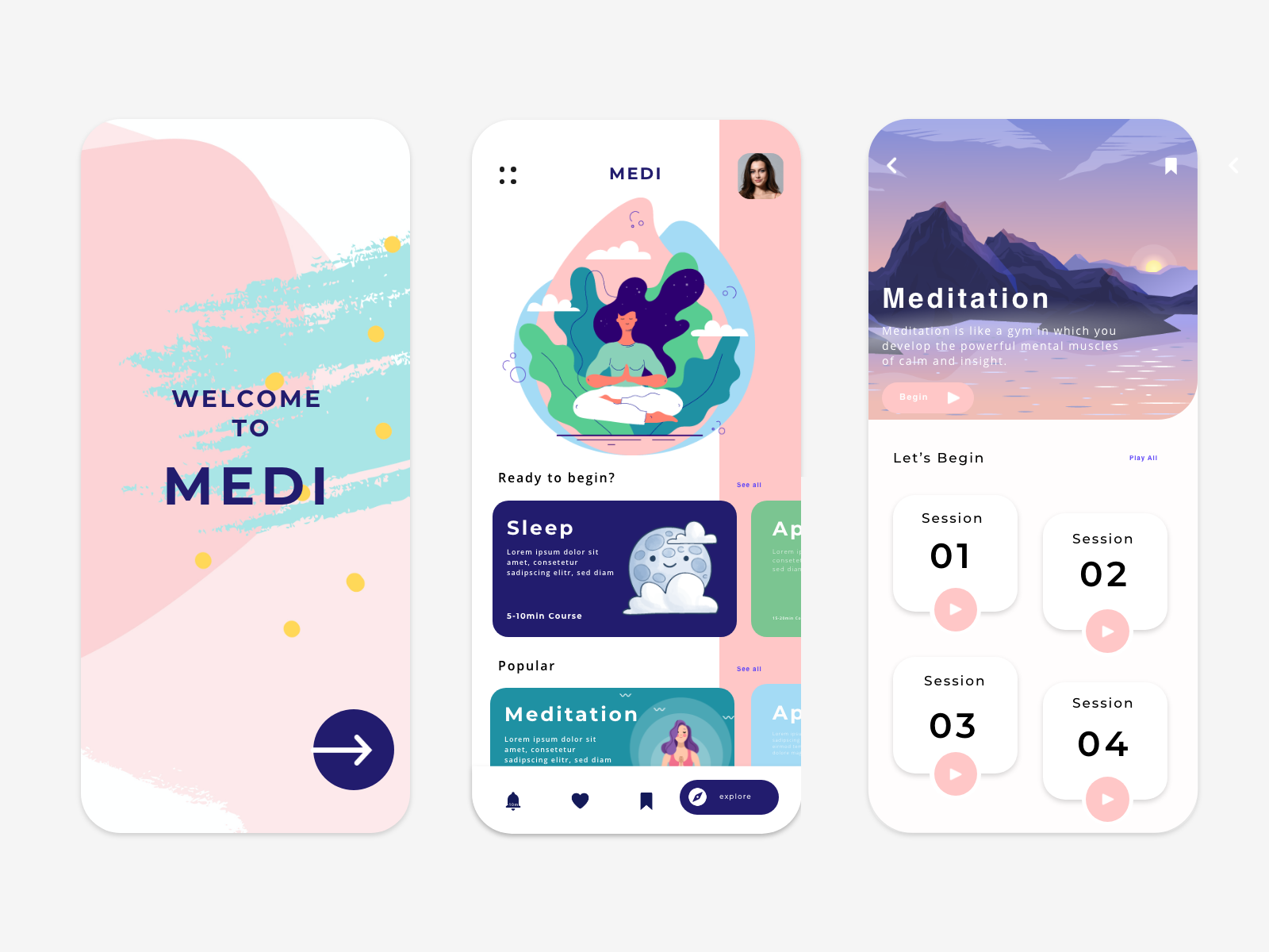 Medi app in 2020 (With images) Interface design, User