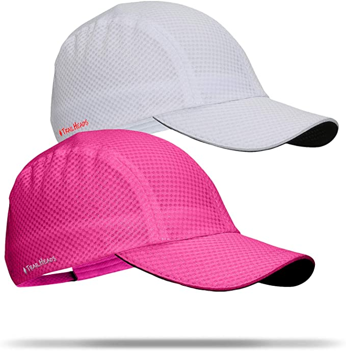 TrailHeads Women/'s Race Day Running Cap white//pink /& purple logo