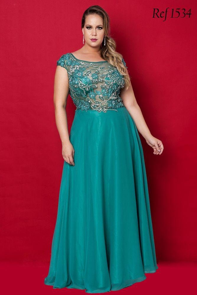 Vestidos Plus Size - Aiza Collection | raheela | Pinterest | Grau ...