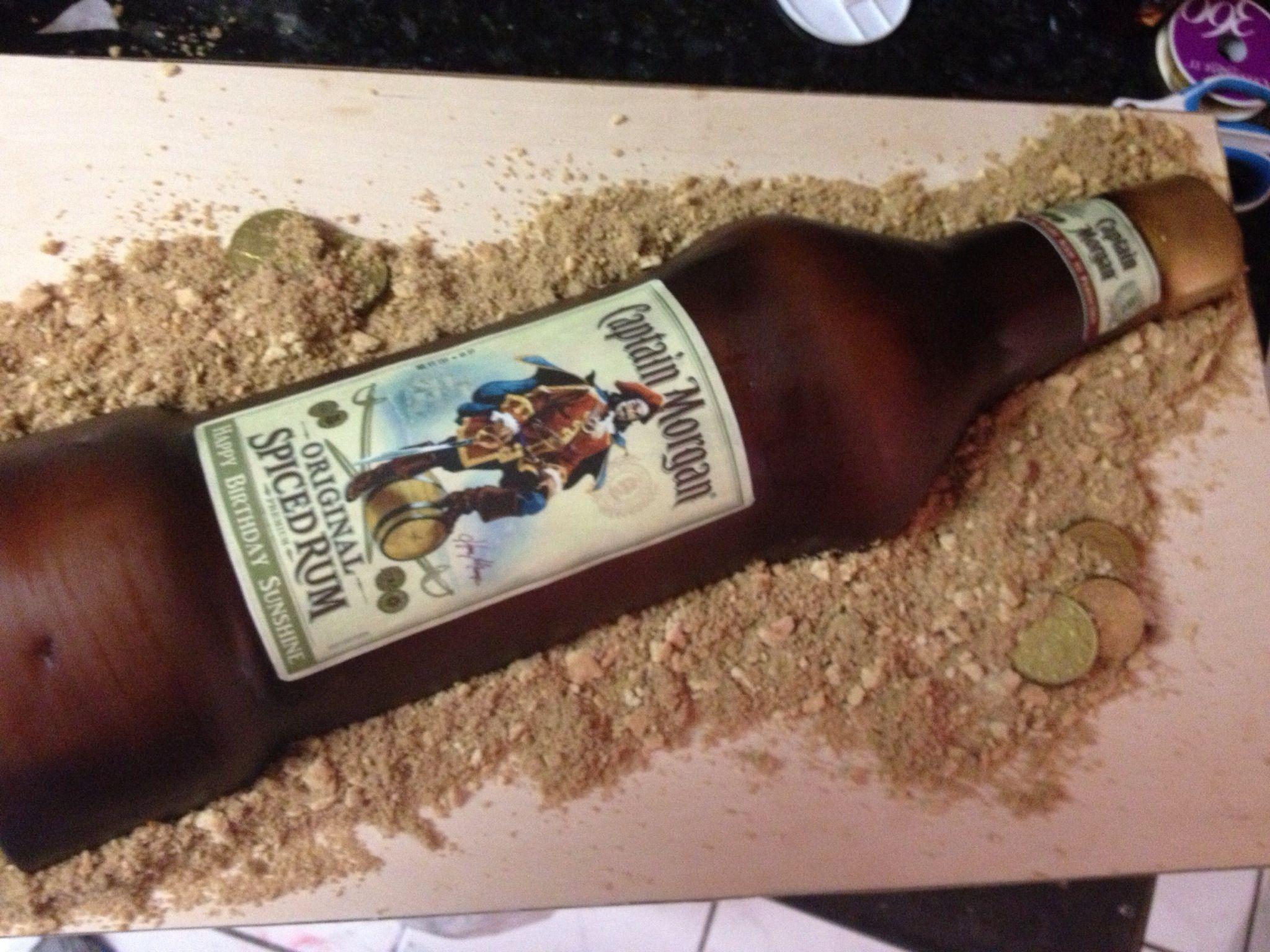 Captain Morgan Cake Man Cake Bottle Cake Cakes