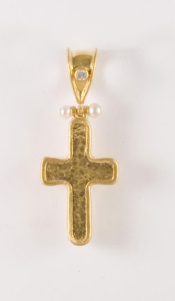 24k gold cross pendant by gurhan bennet gallery knoxville tn 24k gold cross pendant by gurhan aloadofball Images