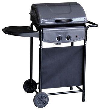Bistro 2 Burner Gas Barbecue Black Modern Bbqs John