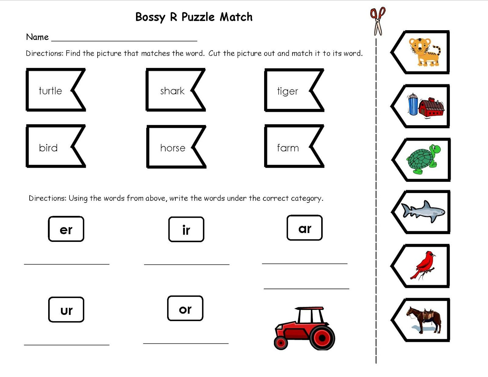 worksheet Bossy R Worksheets bossy r worksheets for 1st grade did these activities with my students and they loved