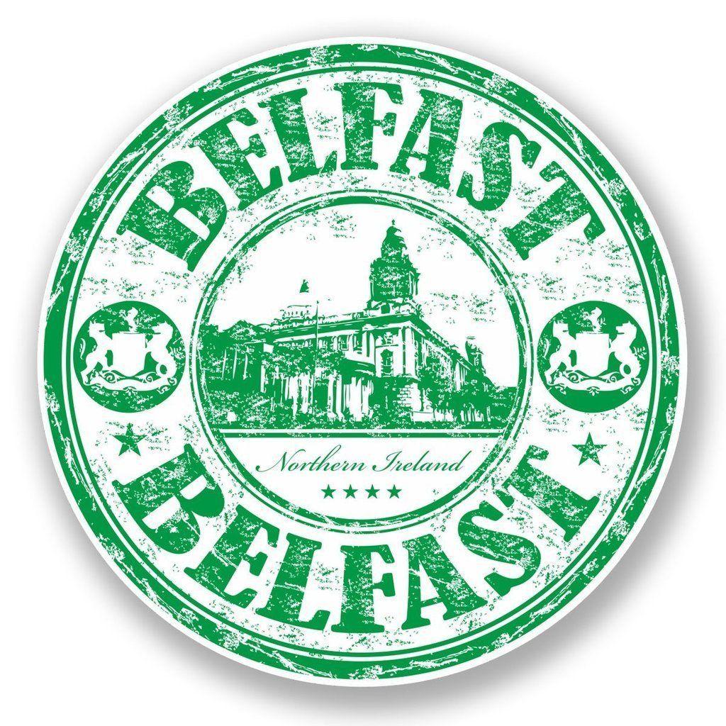 2 X Belfast Northern Ireland Vinyl Sticker Laptop Travel