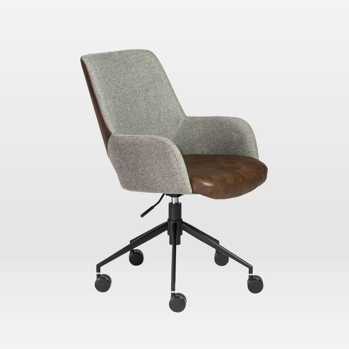 Two Toned Upholstered Office Chair In 2020 Furniture Modern