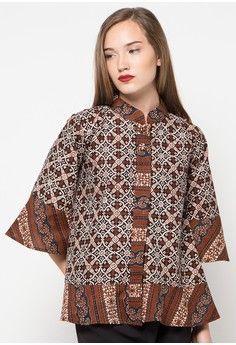 Model Baju Batik Atasan Mama In 2019 Blouse Batik Modern Blouse