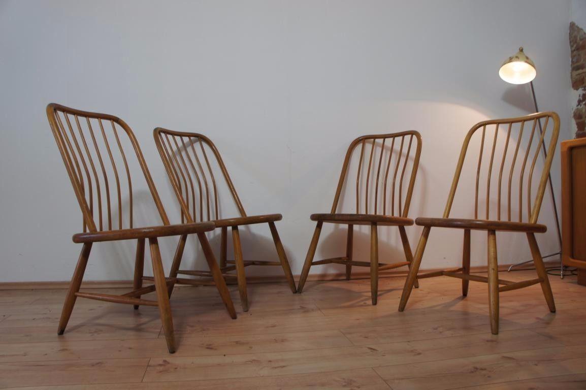 1von4 Stühle Stuhl Chair by Bengt Åkerblom - AKERBLOM - Sweden 50er ...