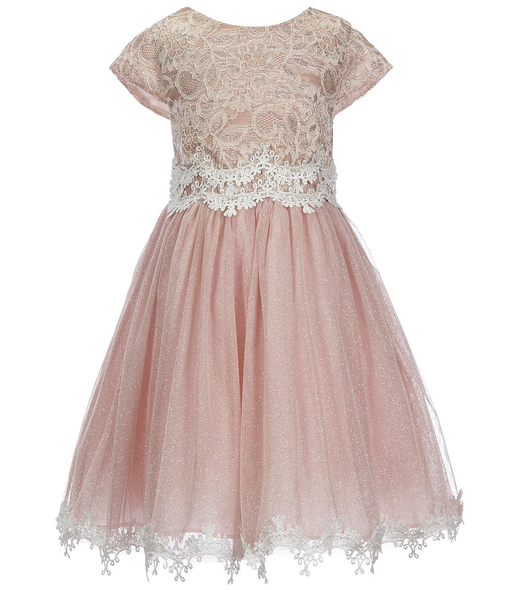 Shop for Rare Editions Little Girls 2T-6X Lace Scalloped-Hem Dress ...