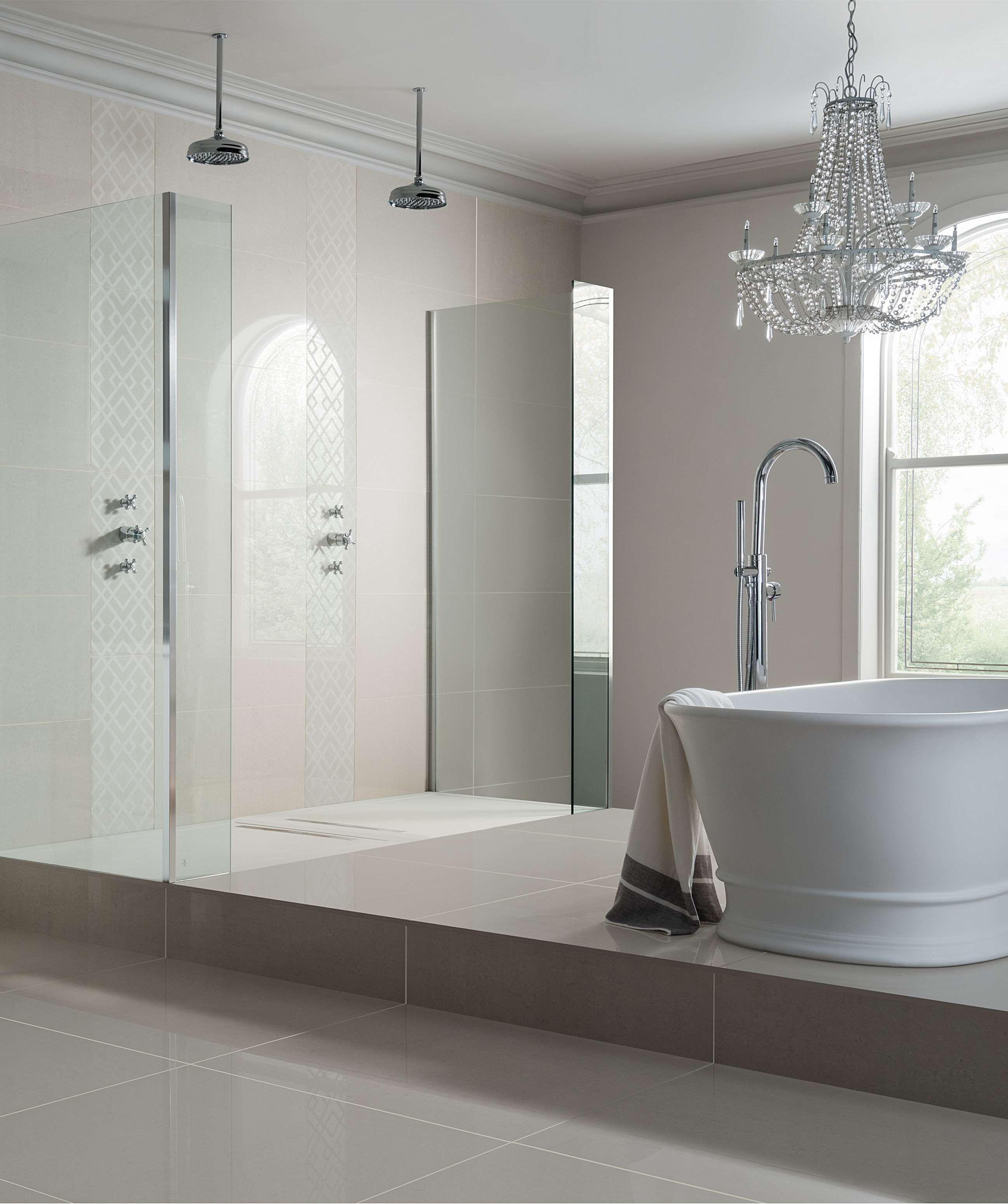 Regal Vanilla Polished Tile 60cm X 30cm Modern Bathroom Decor Topps Tiles Modern Bathroom