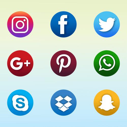 b5063e94fc863 Vector gratis de 9 Iconos de Redes Sociales 4