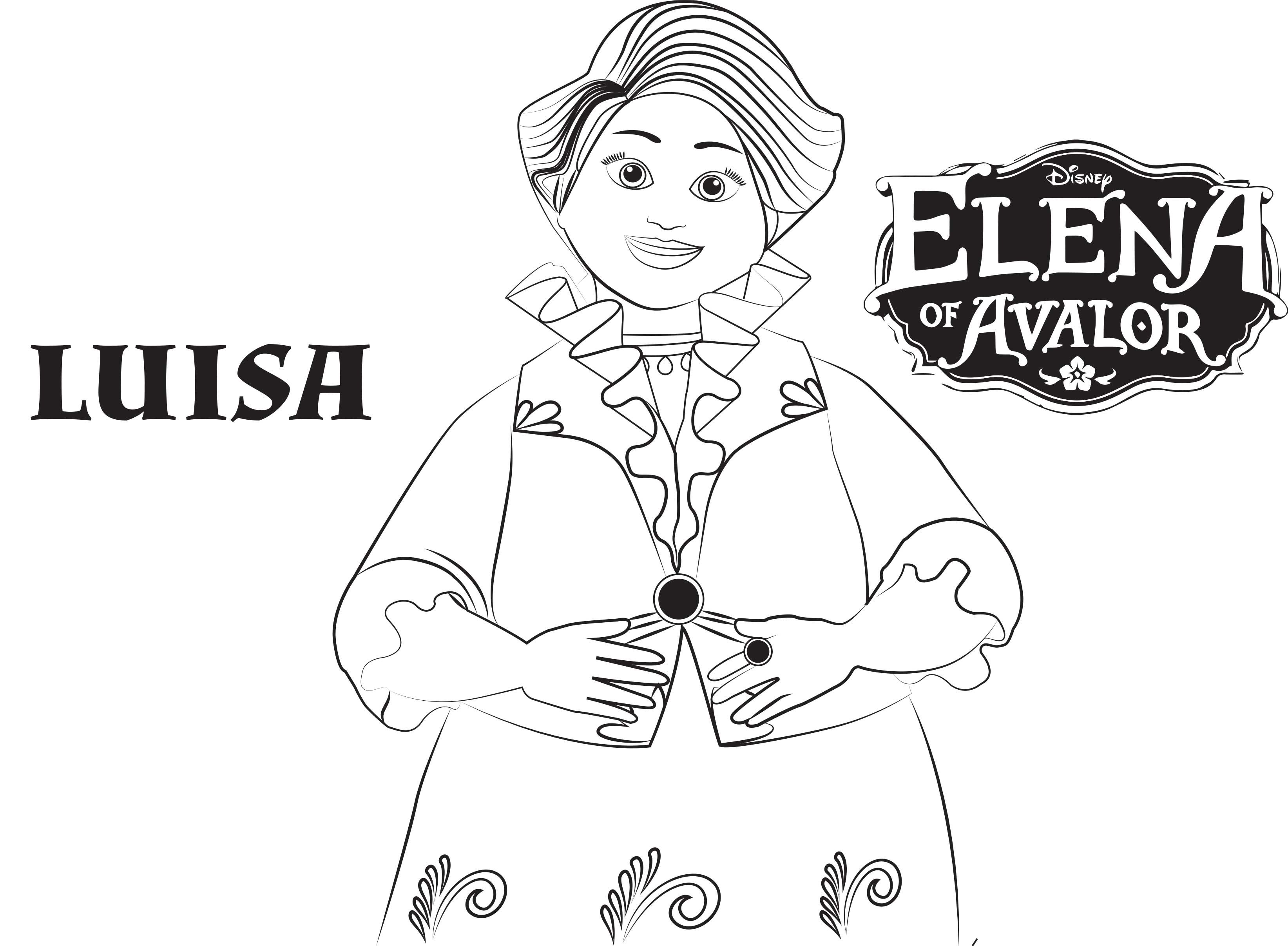Disney S Elena Of Avalor Coloring Pages Sheet Free Disney