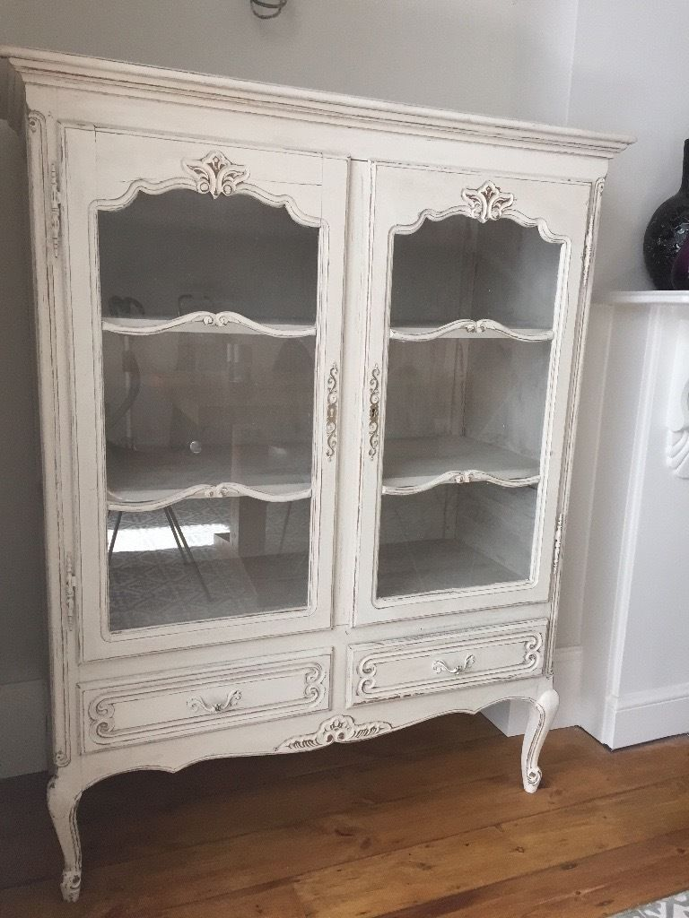 Wonderful Antique / Vintage Shabby Chic Dresser / Drinks Or Display Cabinet