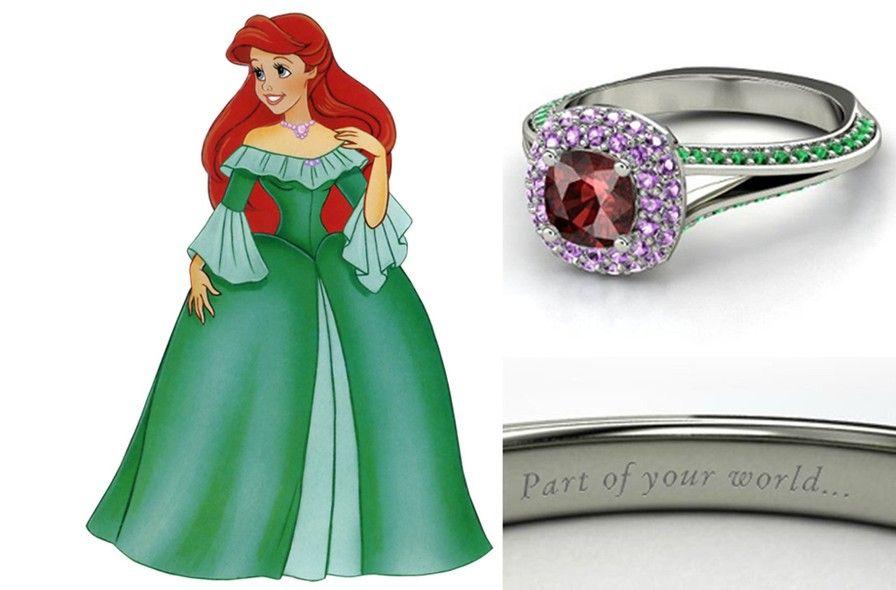 Alianas inspiradas nas Princesas Disney Ariel Jewel and Celebrity
