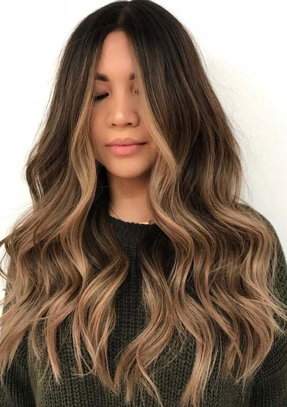 amazing brunette balayage face
