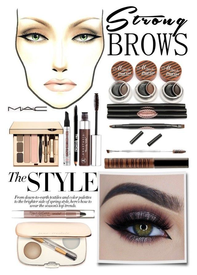 """brow game"" by lialicious ❤ liked on Polyvore featuring beauty, Jane Iredale, Anastasia Beverly Hills, Lord & Berry, Benefit, Clarins, Lord & Taylor, BeautyTrend, strongbrows and boldeyebrows"