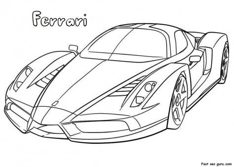 Printable Ferrari Coloring Pages Printable Coloring Pages For Activities Worksheets Coloringp Cars Coloring Pages Race Car Coloring Pages Colouring Pages