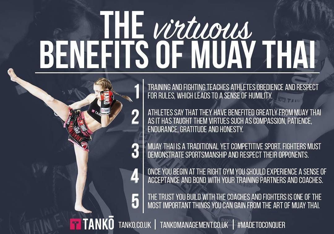 Check out the many benefits of training muaythai plus the