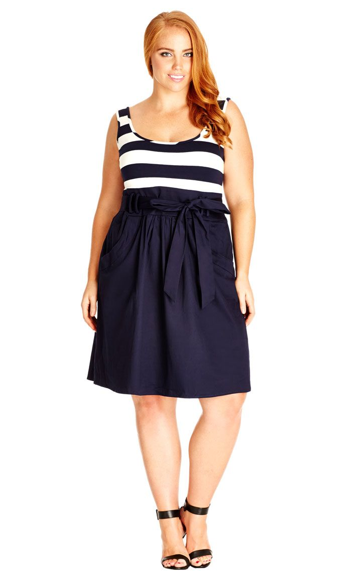 City Chic Cute Sailor Dress - Women\'s Plus Size Fashion City Chic ...
