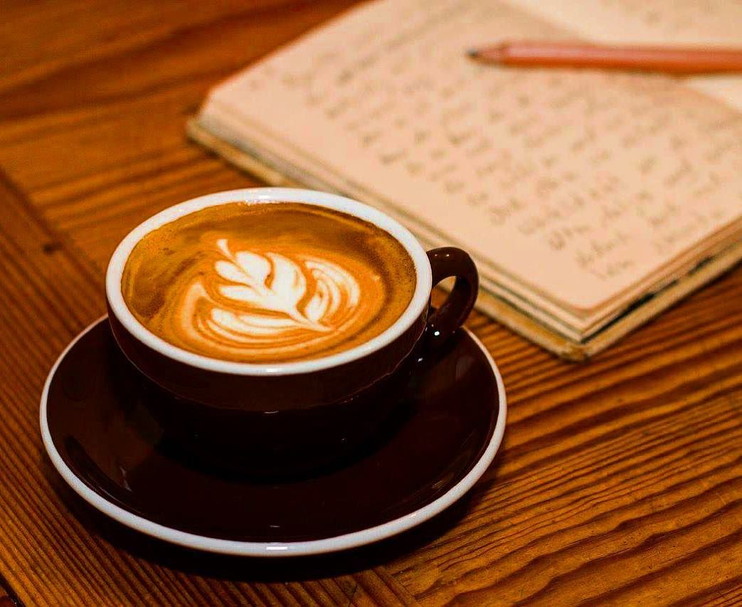 Einen Wunderschönen Guten Morgen Gerade Einen Neuen Espresso
