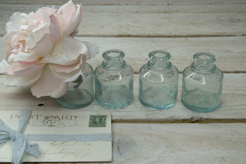 Antique Inkwell Pot Ink Well Ink Bottle Inkwell Ink Pot Glass Bottle Rectangular Glass Jar Ink Jar Ink Container Little Ink Well Antique Inkwells Vintage Bottles Vintage Wine Bottle