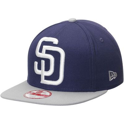 half off 11d5d e3c5c Men s New Era Navy Gray San Diego Padres Logo Grand Redux 9FIFTY Adjustable  Hat