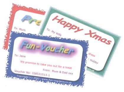 Print you own fun vouchers Gift and wrapping ideas Pinterest - print your own voucher