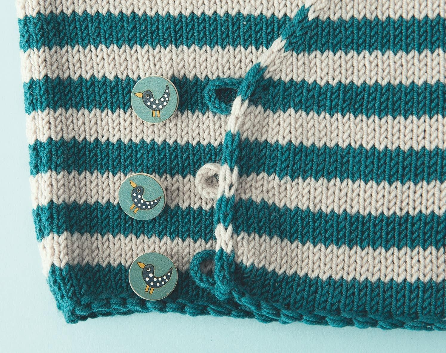 Photo of Wickeljacke für Babys stricken // HIMBEER