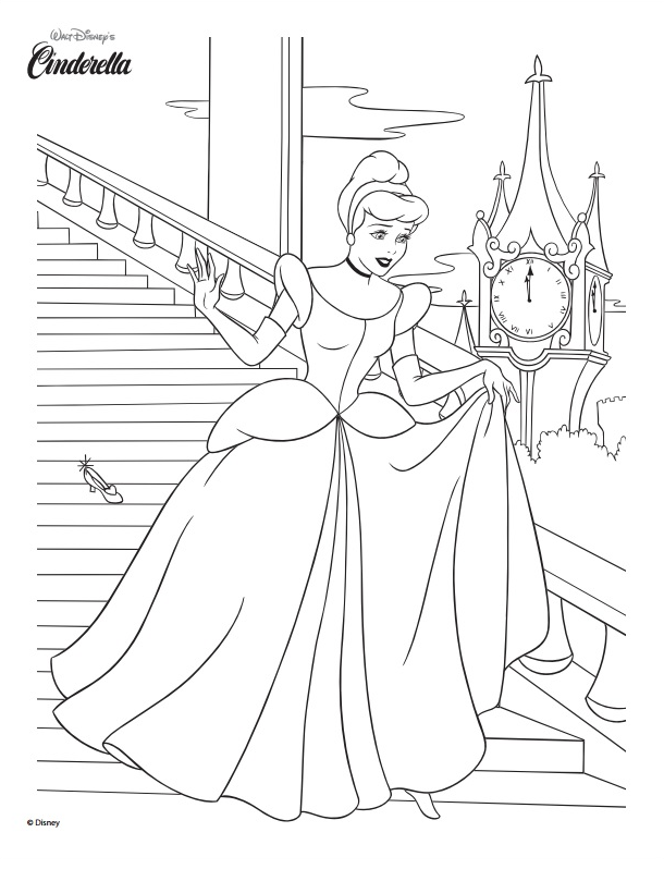Cinderella Coloring Page   Disney family, Folk and Girls camp