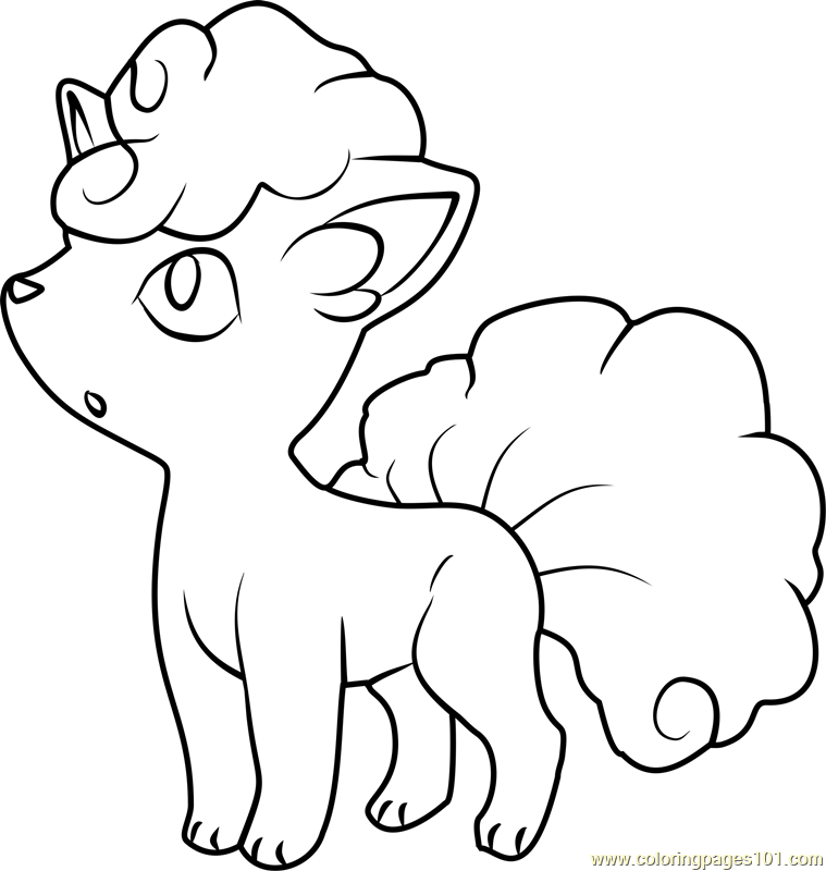 alola vulpix sun and moon coloring page