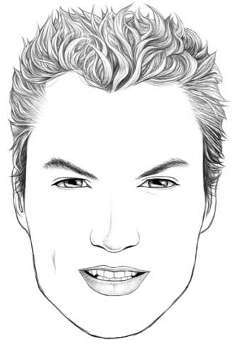 Beautynewbie Com 10 Blank Face Chart Templates Male Face Charts And Female Face Charts Makeup Face Charts Face Chart Male Face