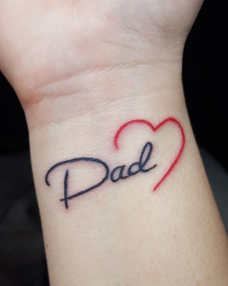 #small #tattoo #dad #lovehim #dadanddaughter #infinity #my
