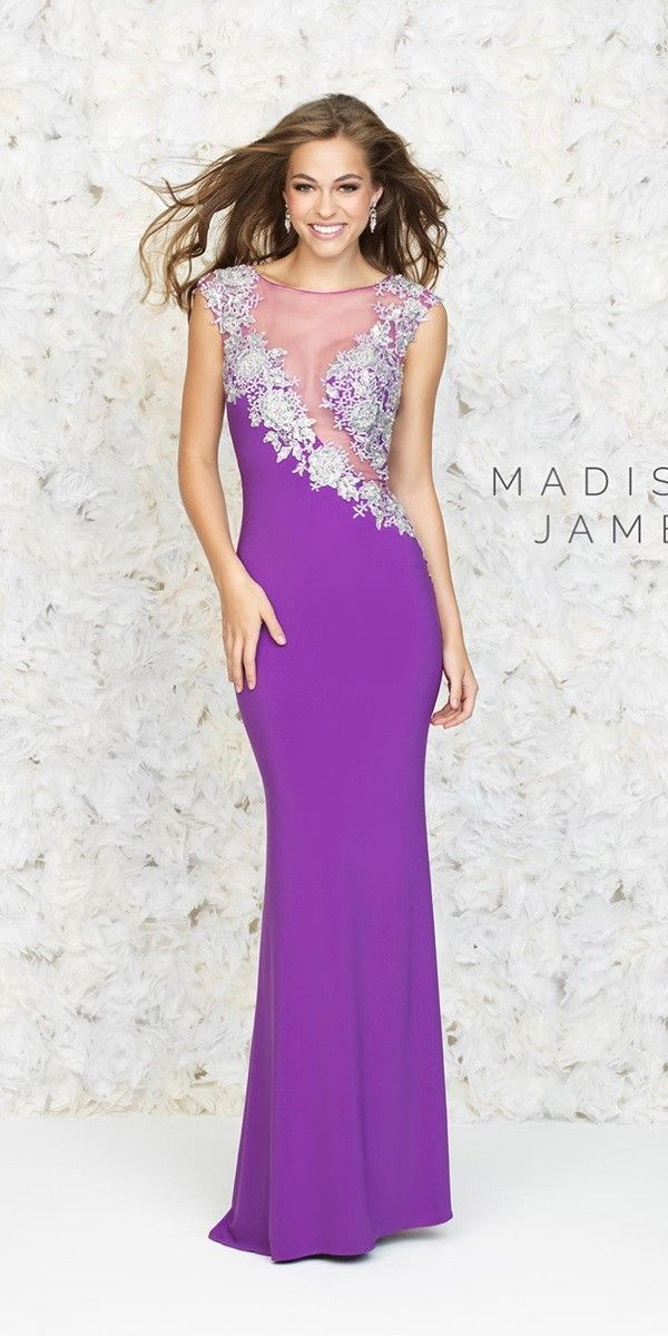 Elegant Illusion Mesh Gown $343.99 Evening Dresses and Gowns