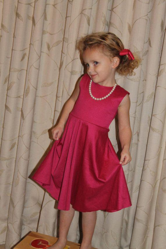 Girls Dress Circle Skirt Twirl Dress sewing pattern, PDF Pattern ...