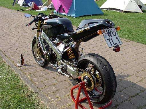 Honda Bros (Hawk) by Jochen Pohle (Germany). Huge Carbon-airbox, carbon-seat, under-seat-exhaust, handmade radiator, ...