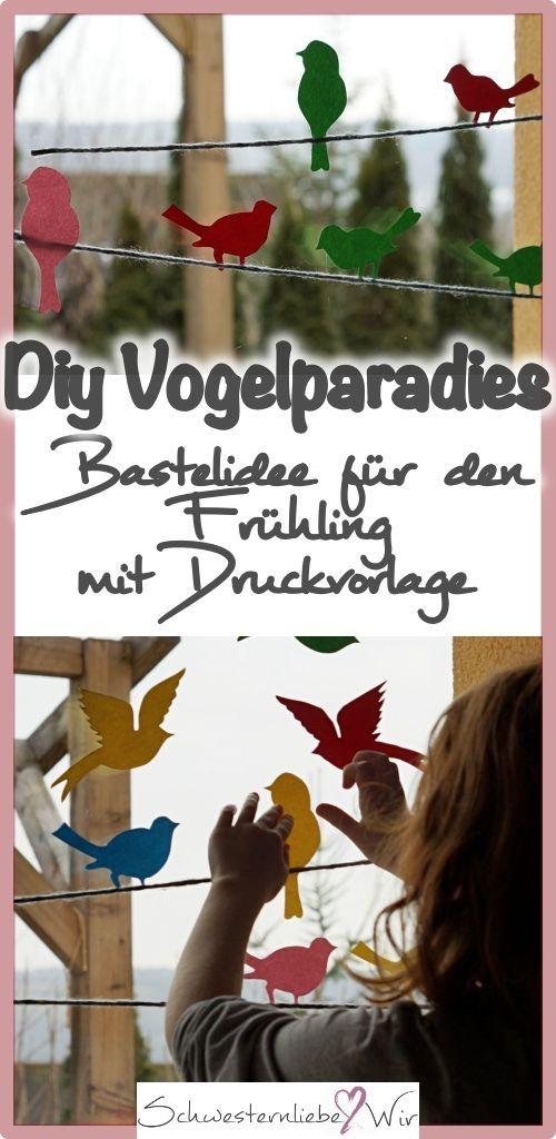 Hallo Frühling // von einem bunten Vogelparadies an unserem Fenster + Druckvorlage - Schwesternliebe&Wir