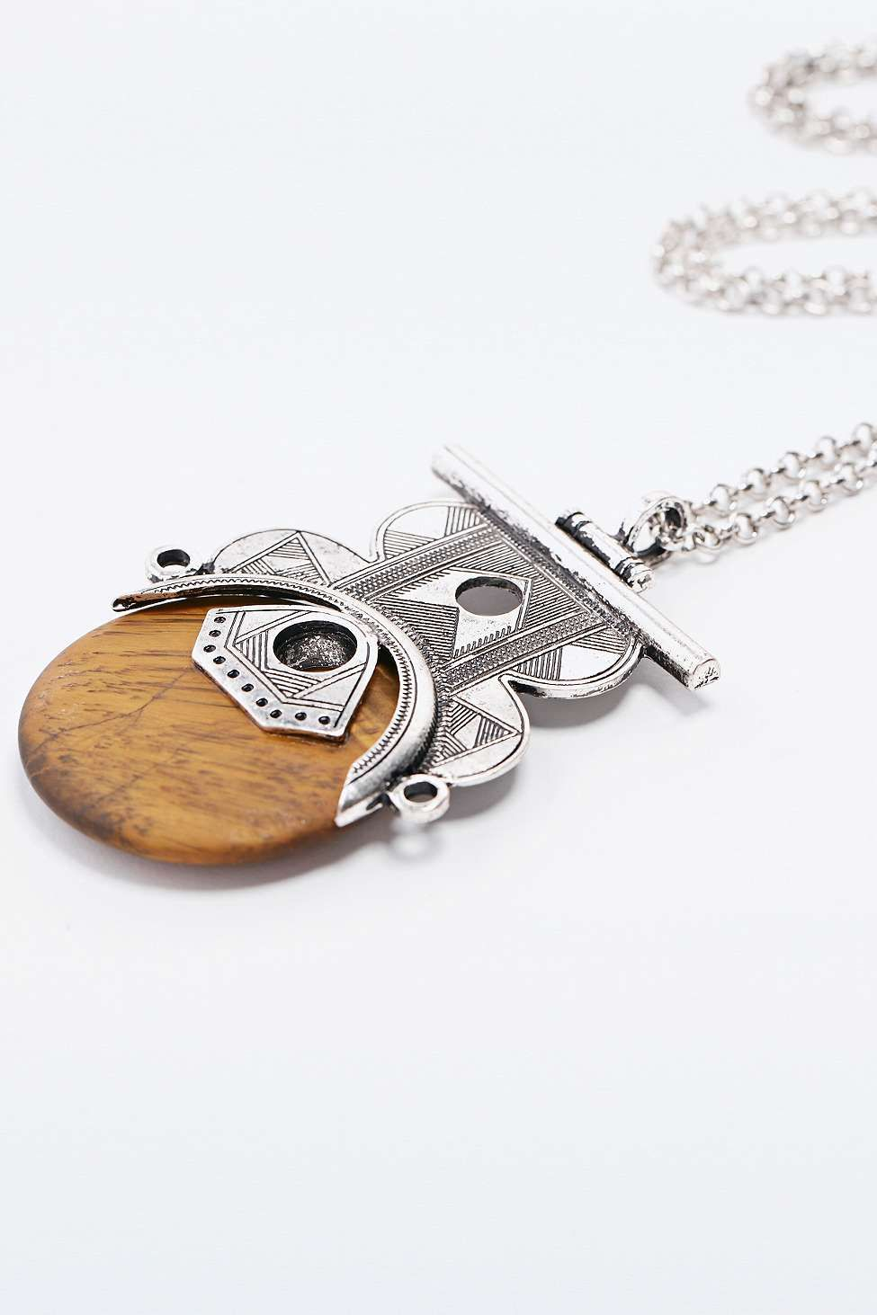 Statement Pendant Necklace in Silver