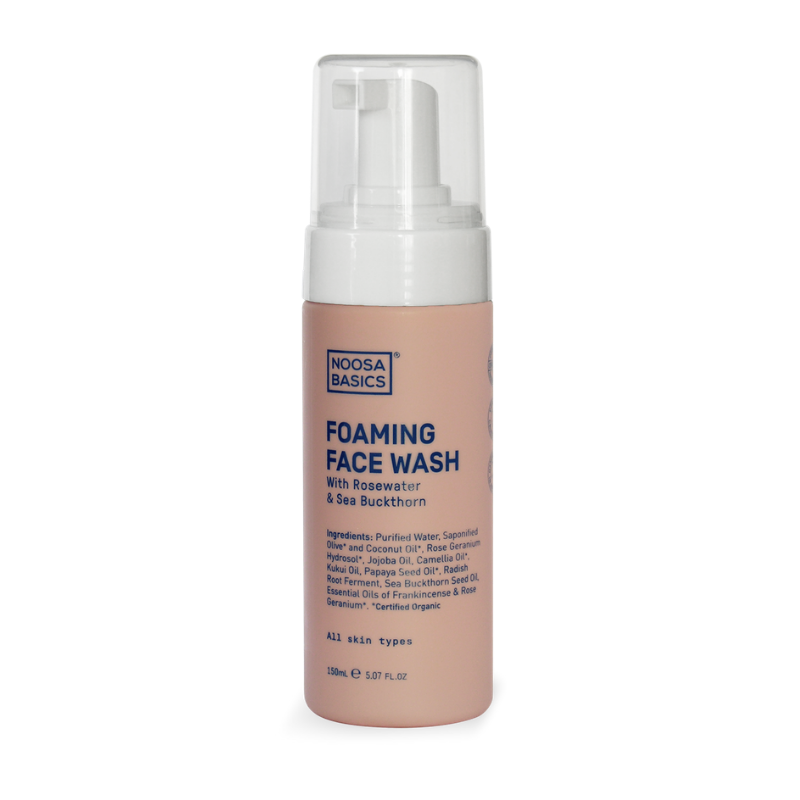 Noosa Basics Foaming Face Wash With Rosewater & Sea