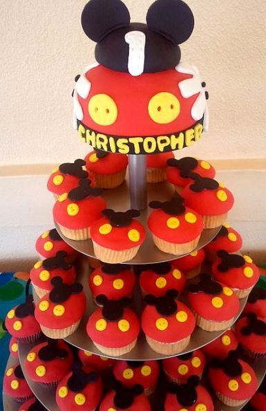 Mickey Mouse Birthday Cakes And Cupcakes 3