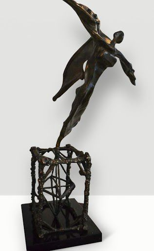Salvador Dali sculpture for sale through Robin Rile Fine Art info@robinrile.com. La escultura de Salvador Dali esta disponible por Robin Rile Fine Art.
