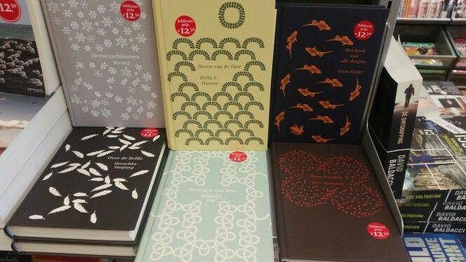 Serie of covers for classic Dutch literature