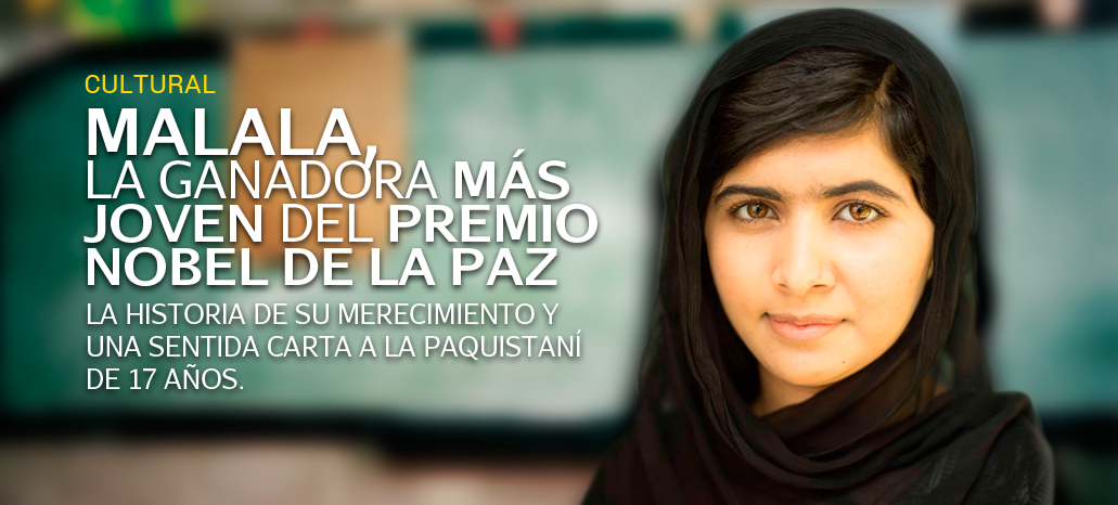 Malala, la ganadora más joven del Premio Nobel de la Paz http://promoviendoteperu.com/cultural/item/2509-malala-la-ganadora-mas-joven-del-premio-nobel-de-la-paz.html